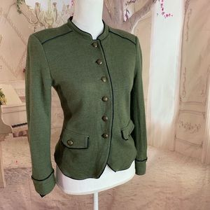 J Crew Olive Green Wool Military Blazer